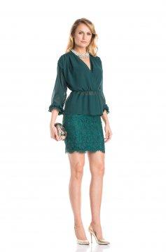 Daniella Cristea Stylish Events Green Skirt