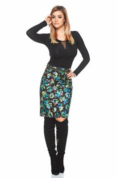 StarShinerS Flourish Love Black Skirt