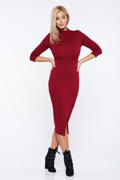 StarShinerS FALL in love burgundy casual pencil dress