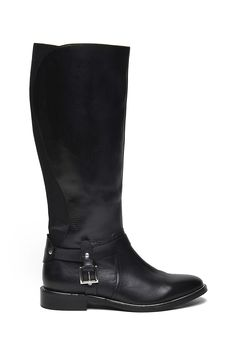 Top Secret S025218 Black Leather Boots