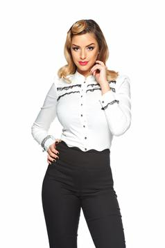 Fofy Stylish Presence White Shirt