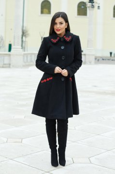 LaDonna Splendid Style Black Coat
