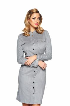 PrettyGirl Charismatic Lady Grey Dress