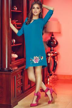 StarShinerS Theo Rose Magic Turquoise Embroidered Dress