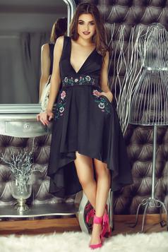 StarShinerS Theo Rose Fantasy Black Embroidered Dress