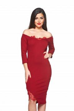 StarShinerS Diva Spirit Sensuality Burgundy Dress