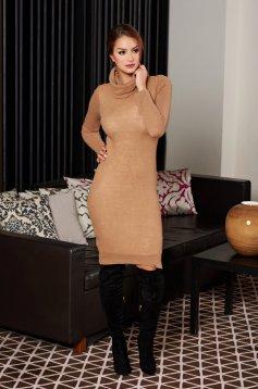 PrettyGirl Sensational Design Cream Dress