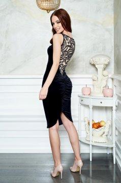 Fofy Attractive Shape Black Dress