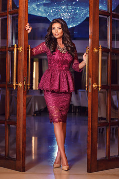 Daniella Cristea Surprising Event Purple Dress