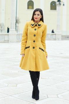 LaDonna Splendid Style Yellow Coat