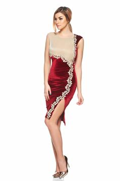 Fofy Nymphaea Burgundy Dress