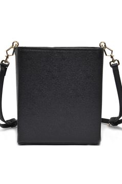Top Secret black casual bag with medium handles