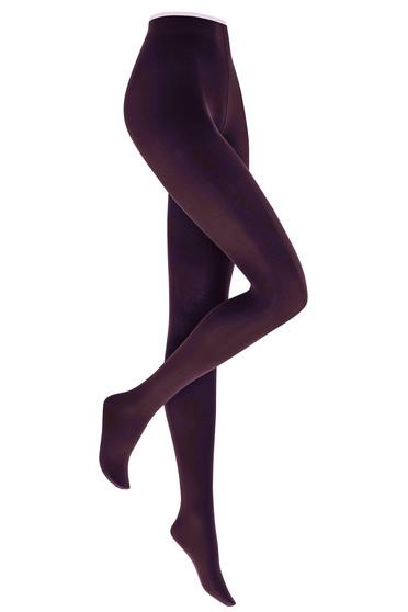 Kunert burgundy matt women`s tights with runstop and not reinforced toe