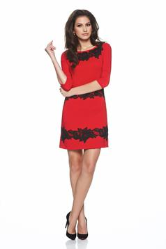 LaDonna red elegant embroidered dress