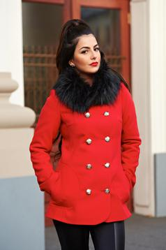 LaDonna Stylish Season Red Coat