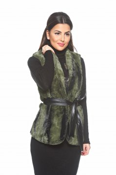 PrettyGirl Fantastic Winter Green Gilet