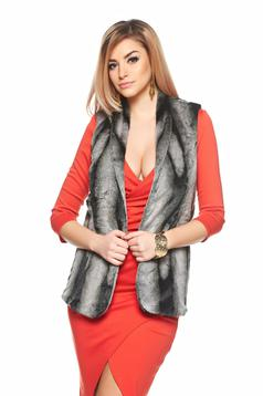 PrettyGirl Fantastic Winter Grey Gilet