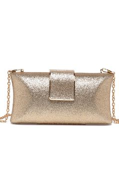 Top Secret occasional gold bag with glitter details