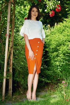 PrettyGirl Power Lady Orange Skirt