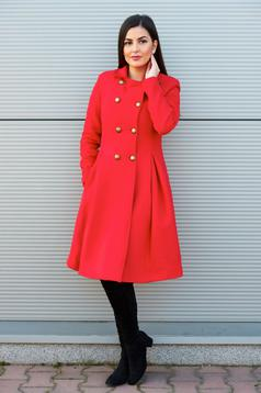 PrettyGirl Military Style Red Coat