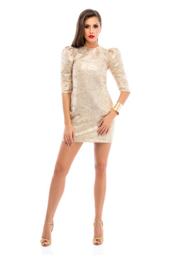 Ana Radu Diamond Dream Gold Dress