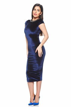 StarShinerS Charming Velvet DarkBlue Dress