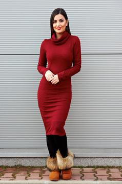 PrettyGirl Separation Burgundy Dress