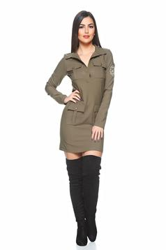 PrettyGirl Battlefield DarkGreen Dress