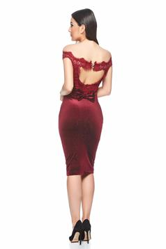 Fofy Exclusivity Burgundy Dress