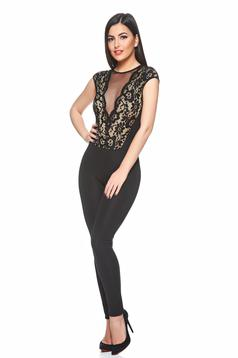 Fofy Beautiful Look Black Jumpsuit