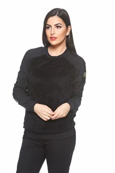 PrettyGirl Army Delight Black Sweater