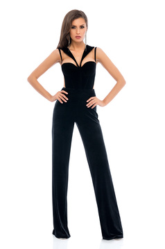 Ana Radu Spectacular Appearance Black Jumpsuit