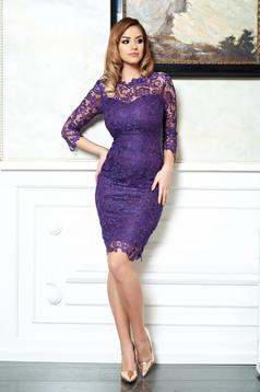 Feminine Secret Purple Dress