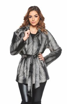 PrettyGirl Lovely Winter Grey Overcoat