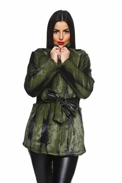 PrettyGirl Lovely Winter Green Overcoat