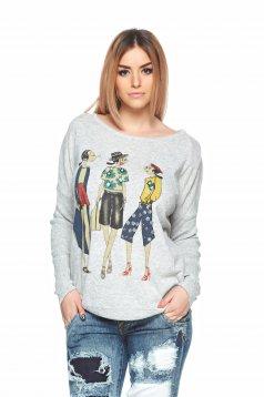 Stylish Character Grey Sweater