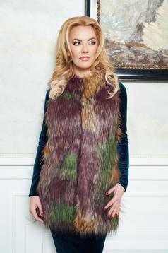 LaDonna Winter Design Green Vest