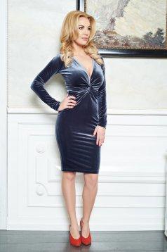LaDonna Divine Velvet DarkGrey Dress
