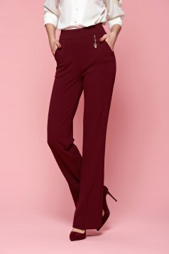 Fofy Classy Fame Burgundy Trousers