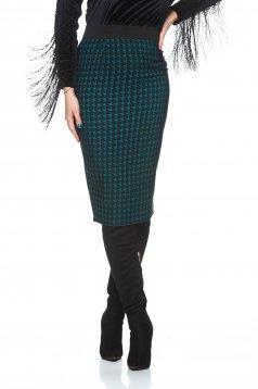 Fofy Plated Design Green Skirt