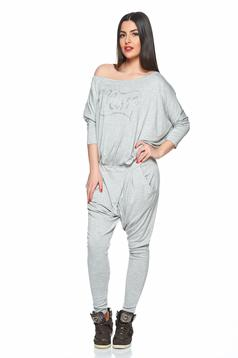 MissQ Fantastic Joy Grey Jumpsuit