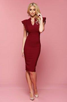 Fofy Gallant Choice Burgundy Dress