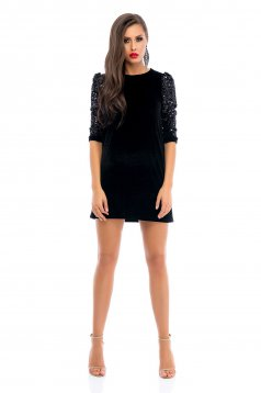 Ana Radu Sparkle Buble Black Dress