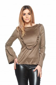 StarShinerS Dating Style Brown Blouse