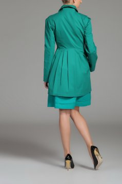 Top Secret S026543 Green Coat