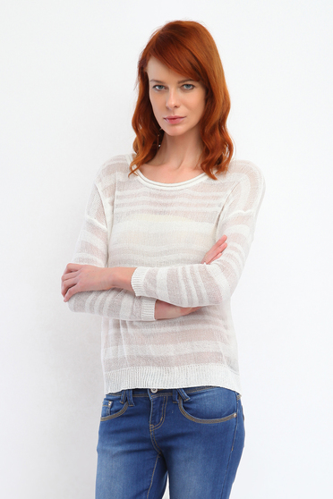 Top Secret S026815 White Sweater