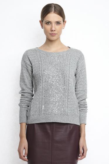 Top Secret S026833 Grey Sweater