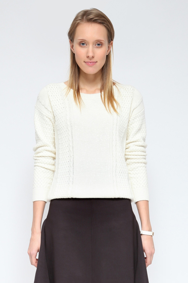 Top Secret S026833 White Sweater