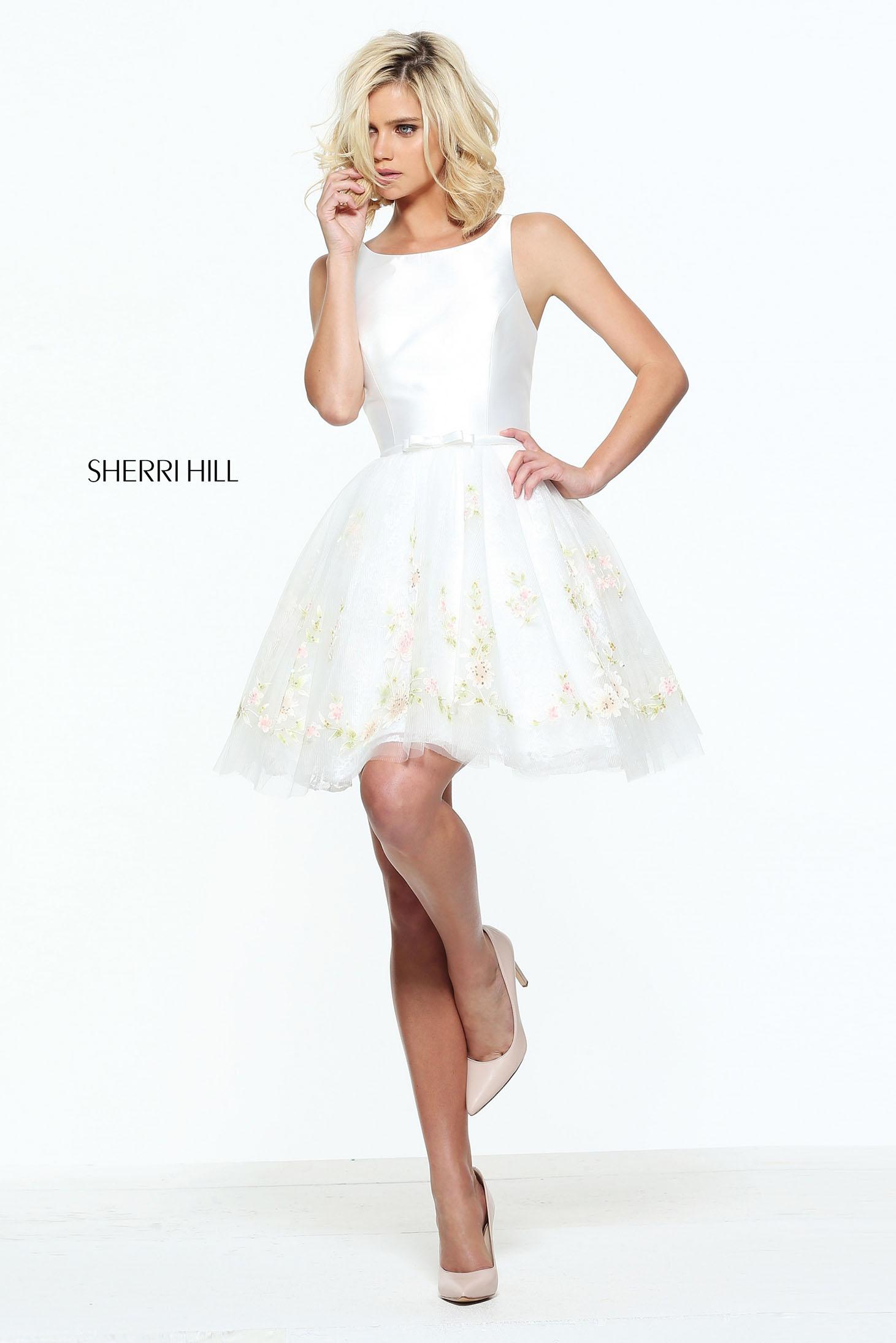 Rochie Sherri Hill 51066 White