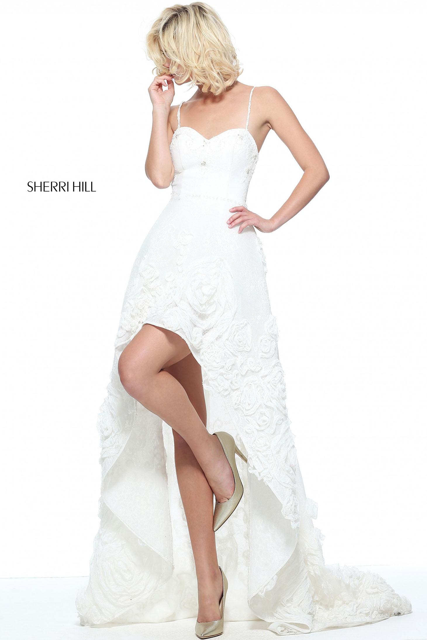 Sherri Hill 51153 White Dress